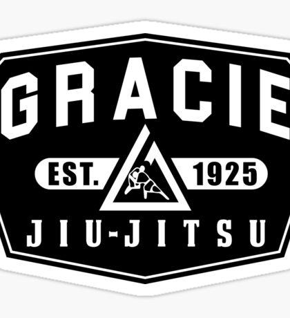 Gracie Brazilian  Jiu Jitsu martial arts EST 1925 black Sticker