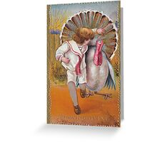 me peterson designs | thanksgiving 1908: george to mildred Greeting Card