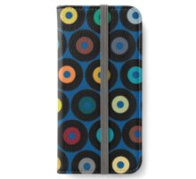 VINYL blue iPhone Wallet/Case/Skin