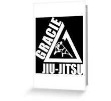 Gracie Jiu Jitsu Martial Arts Brazilian black Greeting Card