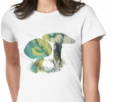 Mushroom Womens Fitted T-Shirt