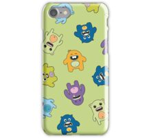 Seamless pattern with cute monsters. iPhone Case/Skin