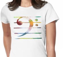 Bass clef Womens Fitted T-Shirt