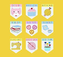 MERIT BADGES by i-made-a-thing