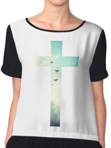 Christian Cross Chiffon Top