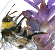 Bee on lavender watercolor Sticker