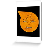 soul eater symbol- excalibur face Greeting Card