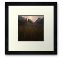 All about the grass Framed Print