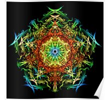 Energetic Geometry-   Multidimensional Power Star Energy Poster