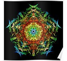 Energetic Geometry-   Multidimensional Power Star Energy Poster