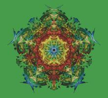 Energetic Geometry-   Multidimensional Power Star Energy One Piece - Short Sleeve