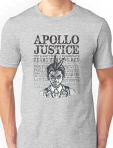 The Many Titles of Apollo Justice Unisex T-Shirt