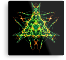 Energetic Geometry-  Abstract Pentacle Symbol for Earthen Connection Metal Print