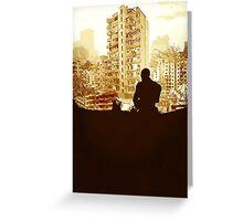 Minimal Silhouette Poster Design Apocalypse Gaming Greeting Card