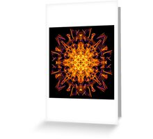 Energetic Geometry - Abstract Solar Power Symbol Greeting Card