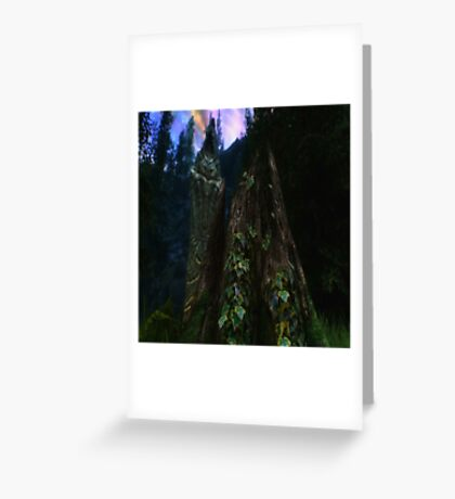 Ominous Statue in the woods Greeting Card