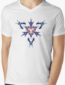 Energetic Geometry - Cybernetic Synaptic Control Theorem Mens V-Neck T-Shirt