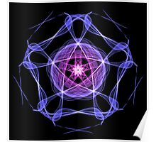 Energetic Geometry – Healing Star Flower of Harmonic Resonance . Poster