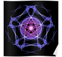 Energetic Geometry – Healing Star Flower of Harmonic Resonance -.. Poster