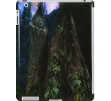 Ominous Statue in the woods iPad Case/Skin