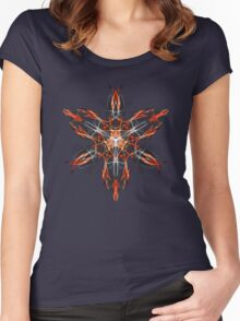 Energetic Geometry – Techno Shaman Energy Focus Invocation Symbol Women's Fitted Scoop T-Shirt