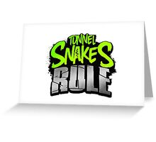 """Tunnel Snakes Rule"" Cool Typography Videogame T-Shirt Design Greeting Card"