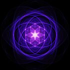 Energetic Geometry - Indigo Prayers by Leah McNeir