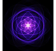 Energetic Geometry - Indigo Prayers Photographic Print