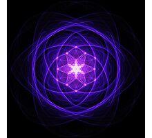 Energetic Geometry - Indigo Prayers Photographic Print