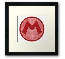 °GEEK° Mario Denim Logo Framed Print
