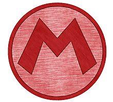 °GEEK° Mario Denim Logo Photographic Print