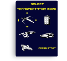 Sci-fi Transportation Modes 1 Canvas Print