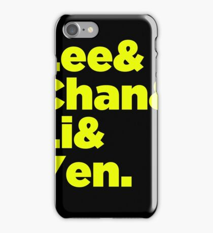 Chinese Martial Arts Legends iPhone Case/Skin