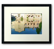Hot springs, Bagno Vignoni, Val d'Orcia, Tuscany, Italy Framed Print