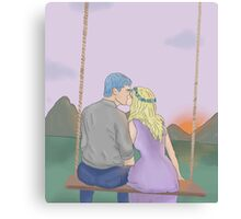 Teddy and Victoire Canvas Print