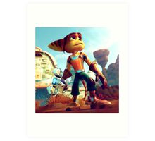 RATCHET CLANK RAB 1 Art Print