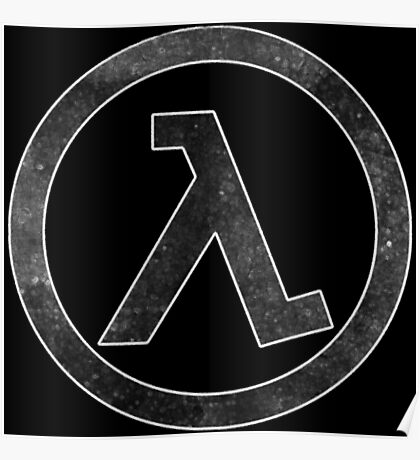 °GEEK° Half Life Logo Poster