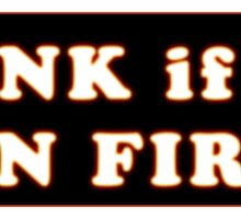 Honk if I'm on fire Volkswagen Bus Bug Beetle Sticker