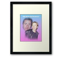Tim Roth Enthusiast Framed Print