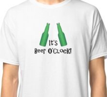 It's Beer O'Clock Party Time Green Bottles Classic T-Shirt