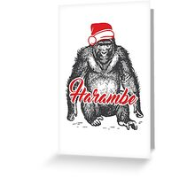 Harambe - the only wish Greeting Card