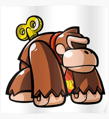Donkey Kong Toy Poster