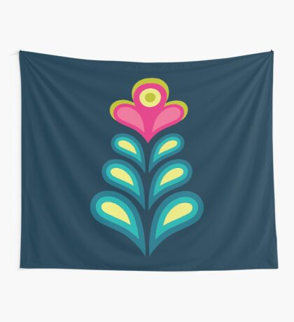 Betty's Garden [pink flower] Wall Tapestry