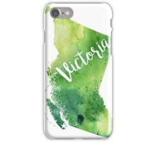 British Columbia Watercolor Map - Victoria Hand Lettering - Giclee Print of Original Art iPhone Case/Skin