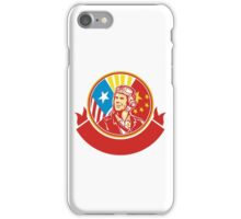 World War 2 Pilot USA China Flag Circle Retro iPhone Case/Skin