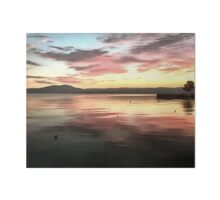 Sunset Reflected On Water Art Board