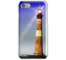 Digitally Restored Morris Island Lighthouse iPhone Case/Skin