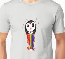 Penguin Floating Rainbow Unisex T-Shirt