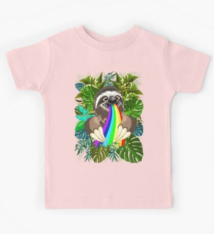 Sloth Spitting Rainbow Colors Kids Clothes
