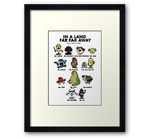 In A Land Far Far Away Framed Print